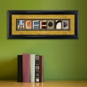 Collegiate Framed Architecture Print in Wood Frame - Wofford College