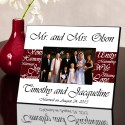 Mr. and Mrs. Personalized Wedding Frame - Wine