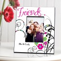 Personalized Cheerful Friendship Picture Frames - Cheerful Onyx Friendship Picture Frame