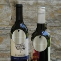 Personalized Wine Bottle Medallion Set of 2
