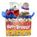 Birthday Teddy Bear Cookie Bouquet 6 or 12 Gourmet Cookies