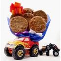 Monster Truck Cookie Bouquet - 6 or 12 Gourmet Cookies